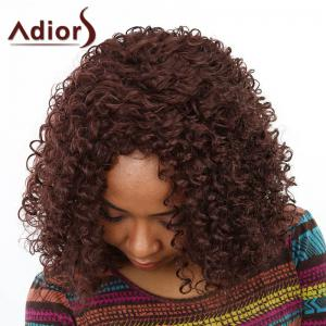 Western Style Capless Japanese Kanekalon Fashion Brown Women's Kinky Afro Wig - BROWN