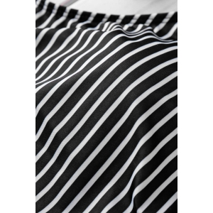 Striped High Waist High Neck Underwire Tankini Bathing Suit -