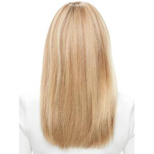 Stunning Long Straight Capless Vogue Side Bang Real Human Hair Wig For Women -
