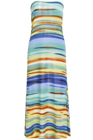 Shop Colorful Stripes Multiway Maxi Skirt