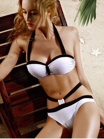 Halter Sexy Hit Bikini Set Couleur Cut Out Femmes