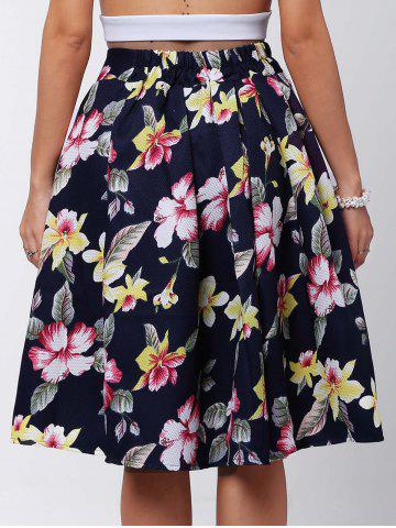 Buy Box Pleated Midi A Line Skirt - L RED Mobile