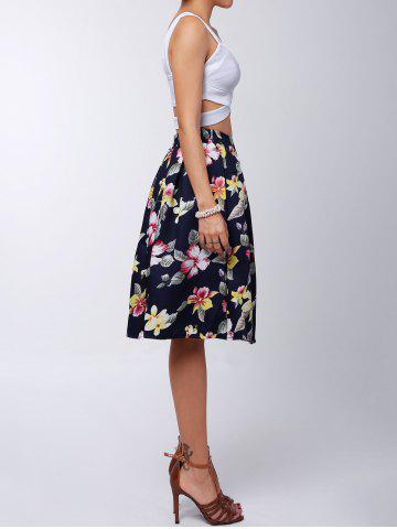 Shops Box Pleated Midi A Line Skirt - L RED Mobile