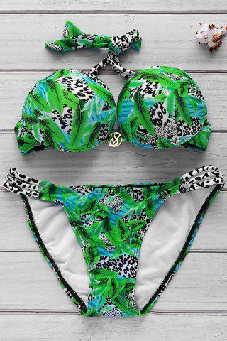 Store Sexy Halter Colorful Print Bikini Suit For Women