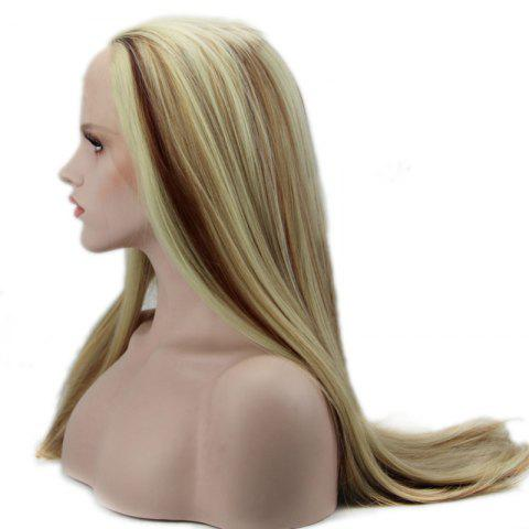 Straight Long Synthetic Women's Lace Front Wig - COLORMIX