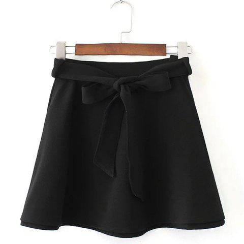 Sale Belted Mini Skater Skirt