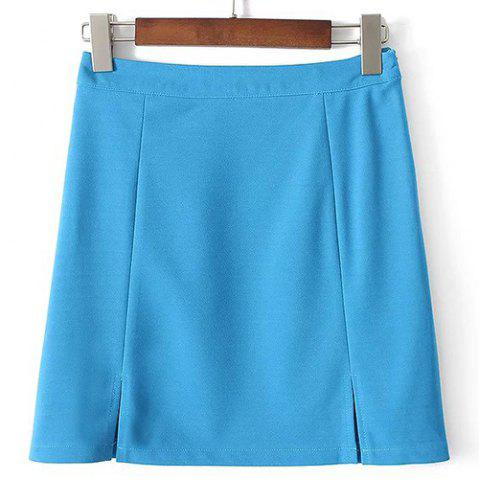 Fancy Cute A Line Side Slit High-Waisted Women's Skirt