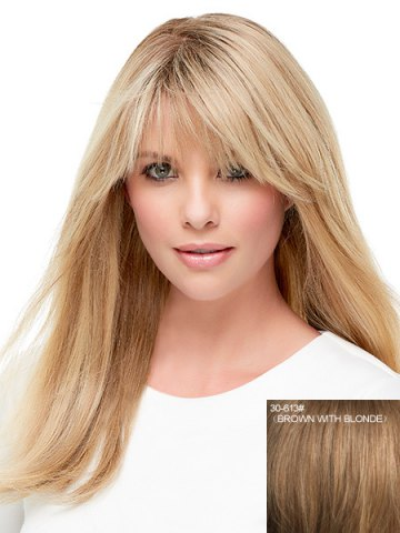 Fashion Stunning Long Straight Capless Vogue Side Bang Real Human Hair Wig For Women