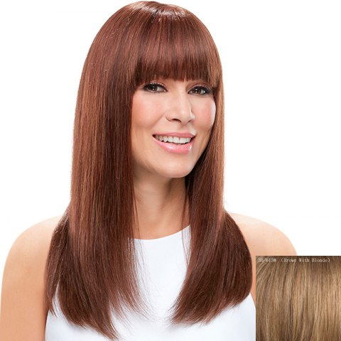 Sale Charming Silky Straight Full Bang Capless Vogue Long Real Natural Hair Wig For Women