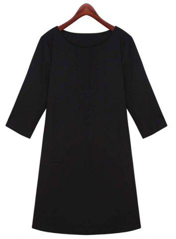 Fashion Elegant Jewel Neck 3/4 Sleeves Sheath Dress For Women