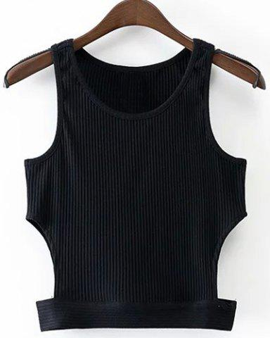 Fancy Round Neck Cropped Tank Top