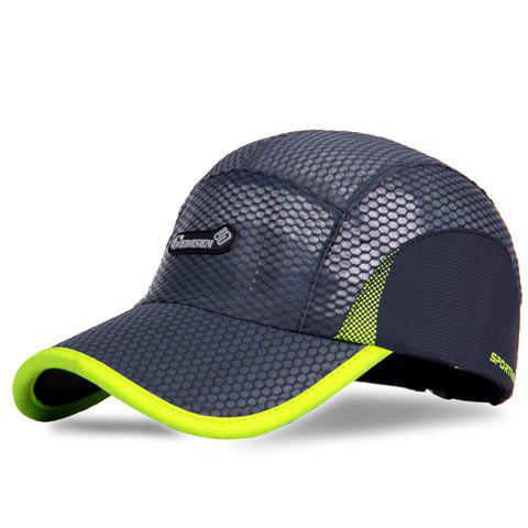 Outfits Trendy Outdoor Fast Dry Sun Block Letters Pattern Breathable Mesh Design Baseball Hat