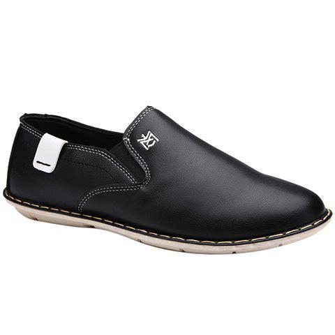 Latest Simple PU Leather and Stitching Design Casual Shoes For Men