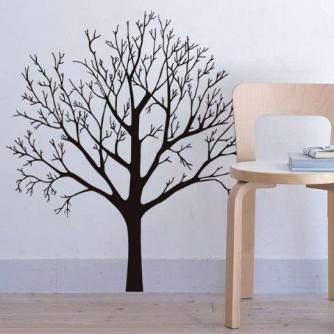 Latest Fashion Tree Branch Pattern Background Wall Sticker For Bedroom Livingroom Decoration - BLACK  Mobile