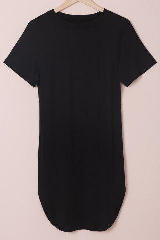 Hot Plus Size Short Sleeve Tee Shift Dress