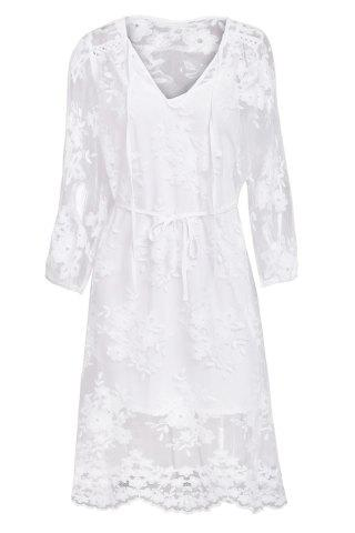 Trendy LaceSummer Wedding WHITE L