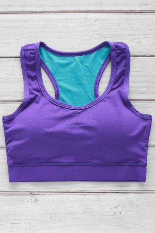 Chic Slimming Racerback Padded Sports Bra