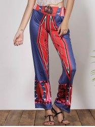 Stylish Low-Waisted Printed Loose-Fitting Women's Pants -