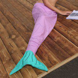 Hot Sale flanelle double couche Mermaid design enfants Sac de couchage Blanket - Pourpre