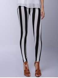 Stylish Striped Printed Stretchy Leggings For Women -