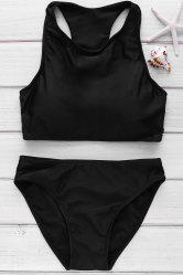 Cut Out Racerback High Neck Bikini