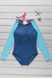 Long Sleeve One Piece Swimwear Rashguard -