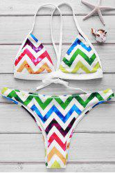 Sexy Colorful Chevron Printed Bikini For Women