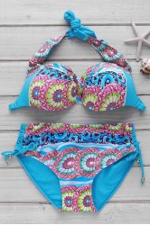Women's Sexy Print Push Up Bikini Suit -