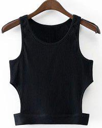 Round Neck Cropped Tank Top -