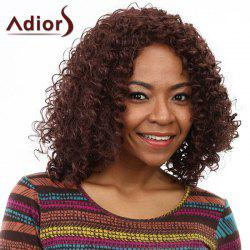 Western Style Capless Japanese Kanekalon Fashion Brown Women's Kinky Afro Wig