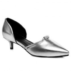 Graceful Pointed Toe and Rhinestones Design Pumps For Women -