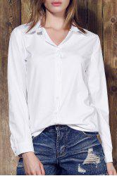 Shirt Collar Long Sleeve Plain Formal Shirt