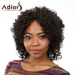 Fashion Shaggy Afro Curly Long Capless Black Heat Resistant Fiber Wig For Women - BLACK