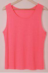 U-Neck Sleeveless Long Tank Top