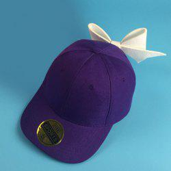 Trendy Big Bowknot Decorated Solid Color Baseball Hat For Women -