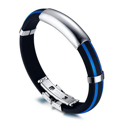 Stainless Steel BraceletJEWELRY<br><br>Color: BLUE; Item Type: Chain &amp; Link Bracelet; Gender: For Men; Chain Type: Link Chain; Style: Punk; Shape/Pattern: Others; Length: 21CM; Weight: 0.042kg; Package Contents: 1 x Bracelet;