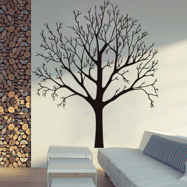 Fashion Tree Branch Pattern Background Wall Sticker For Bedroom Livingroom DecorationHOME<br><br>Color: BLACK; Wall Sticker Type: Plane Wall Stickers; Functions: Decorative Wall Stickers; Theme: Botanical; Material: PVC; Feature: Removable; Size(L*W)(CM): 57*68CM; Weight: 0.295kg; Package Contents: 1 x Wall Sticker;