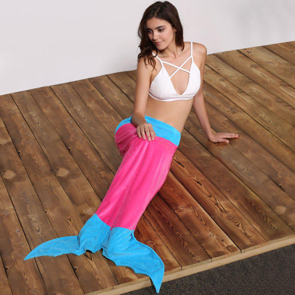 Shop Cute Color Block Mermaid Design Blanket For Kids
