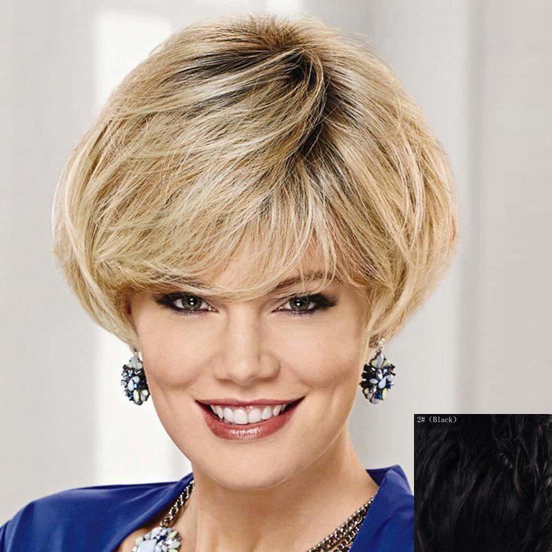 Shop Graceful Side Bang Capless Fashion Short Natural Straight Human Hair Wig For Women