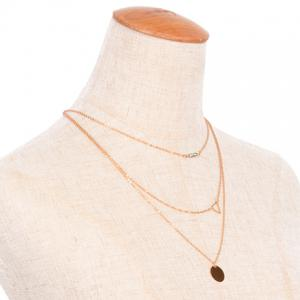 Hollow Out Triangle Shape Multilayered Necklace