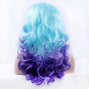 Fashion Long Synthetic Women's Ombre Curly Lace Front Wig -
