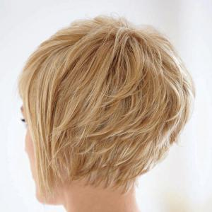 Bouffant Natural Straight Capless Vogue Short Side Bang Human Hair Wig For Women -