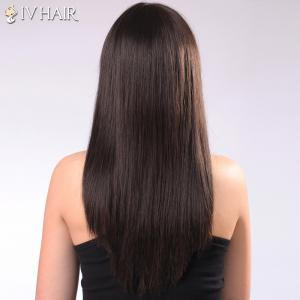 Ladylike Siv Hair Neat Bang Straight Women's Human Hair Wig -