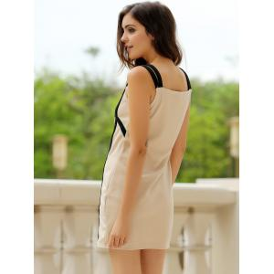 Sweetheart Neck Bandage Bodycon Straps Dress - COLORMIX S