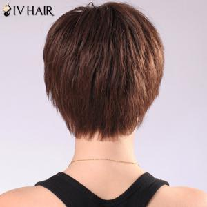 Siv Hair Neat Bang Ultrashort Women's Human Hair Wig -