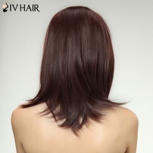Siv Hair Inclined Bang Long Women's Human Hair Wig -