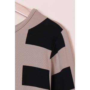 Sexy Off The Shoulder Long Sleeve Geometric Dress For Women - OFF WHITE XL