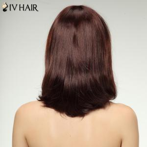 Charming Siv Hair Full Bang Long Women's Human Hair Wig -