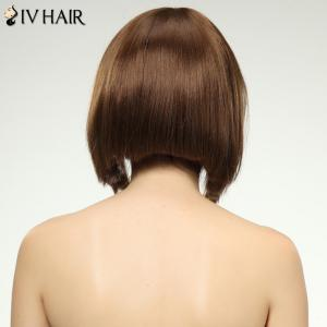 Charming Siv Hair Full Bang Straight Women's Human Hair Wig -