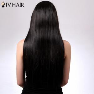 Charming Siv Hair Straight Full Bang Women's Human Hair Wig - AUBURN BROWN #30